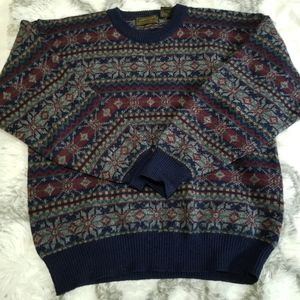 Eddie Bauer Christmas Winter Holiday Sweater sz L